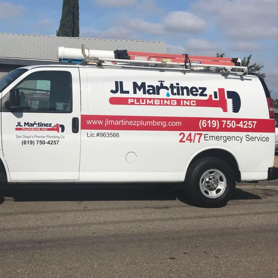 JL Martinez Plumbing Van